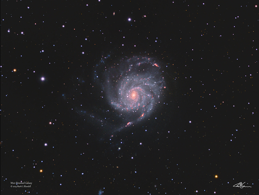 M101 by Mark Blundell.  Image used with kind permission.