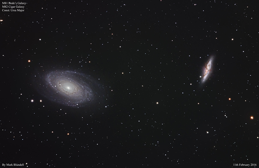 M81 and M82 by Mark Blundell.  Image used with kind permission.